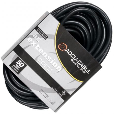 Elation 50' AC Extension Cord (12/3 Gauge)