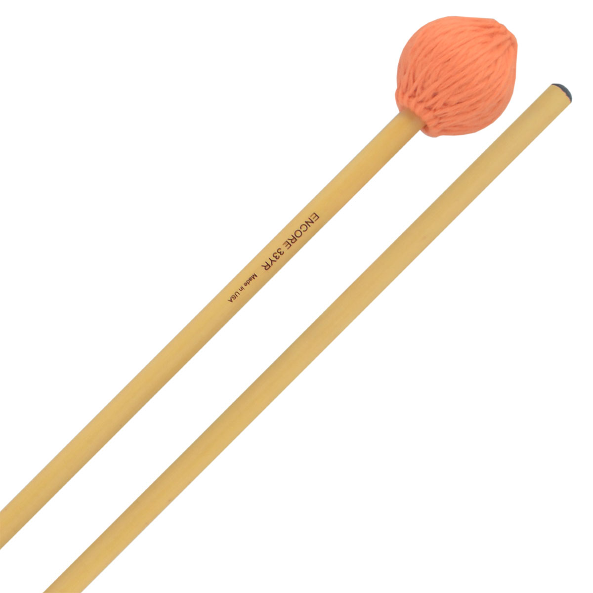 Encore Orange Med Soft Yarn Wound Keyboard Mallets with Rattan Shafts