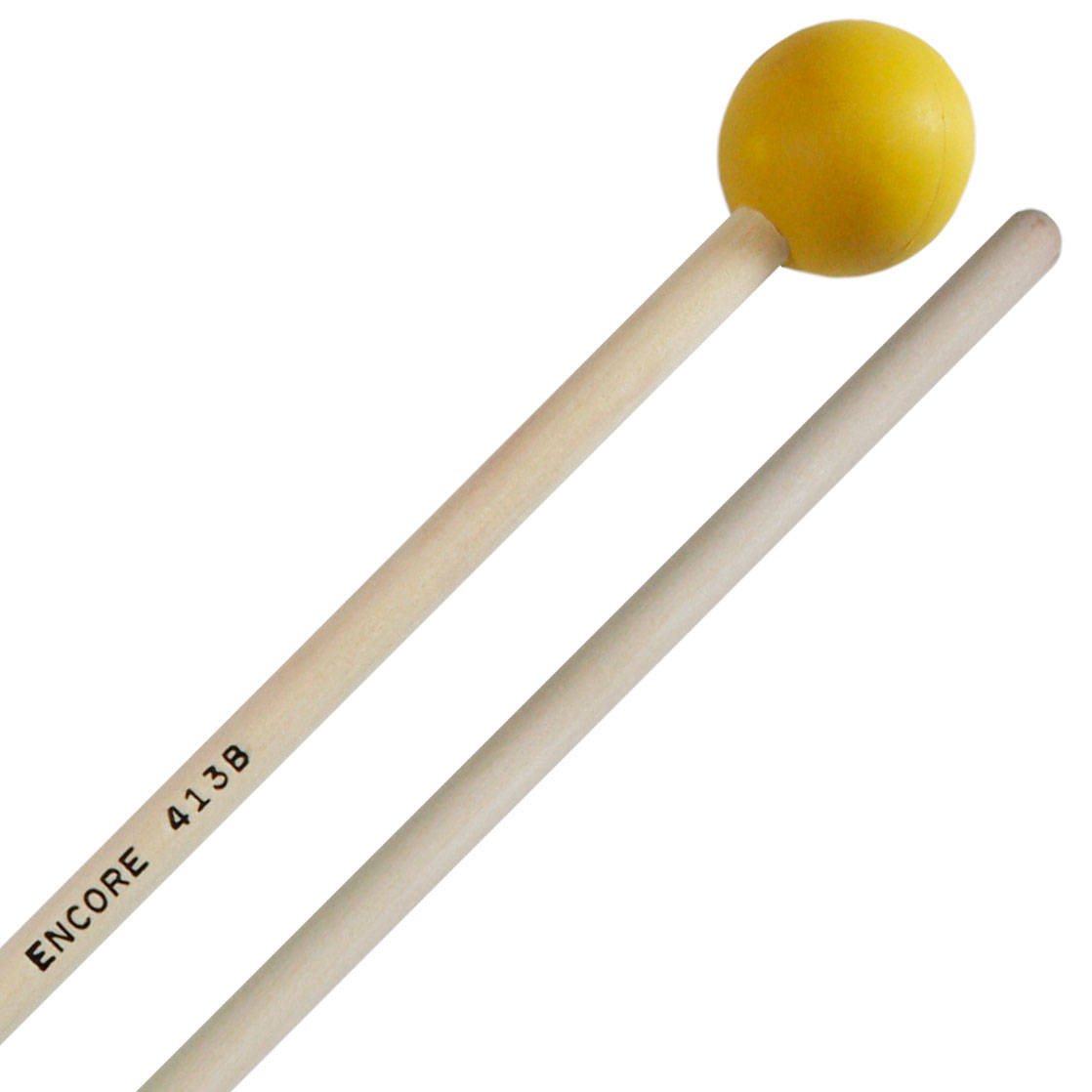 "Encore 1-1/8"" Yellow Soft Rubber Unwound Keyboard Mallets with Birch Shafts"