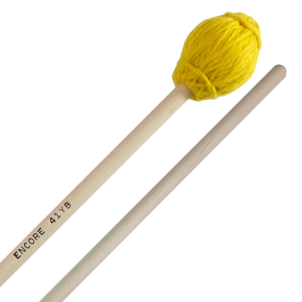 Encore Yellow Hard Yarn Wound Keyboard Mallets with Birch Shafts