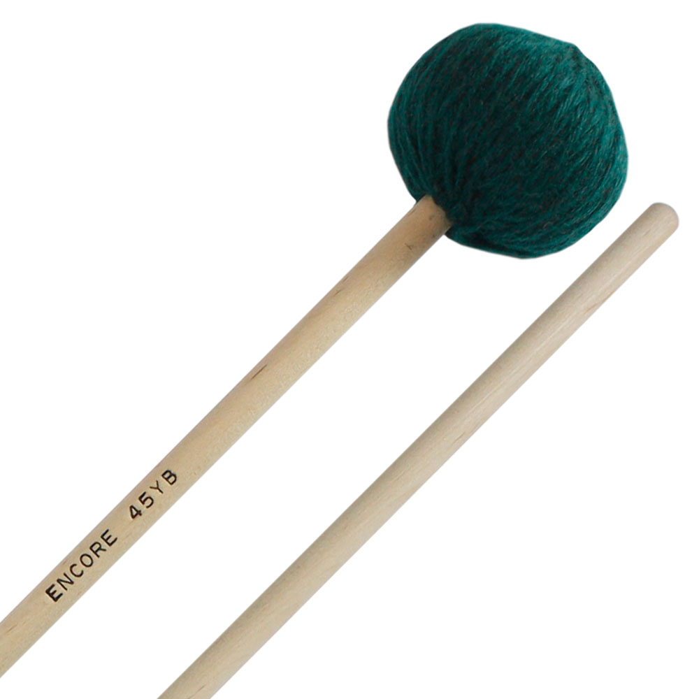 Encore Green Extra Soft Yarn Wound Keyboard Mallets with Birch Shafts