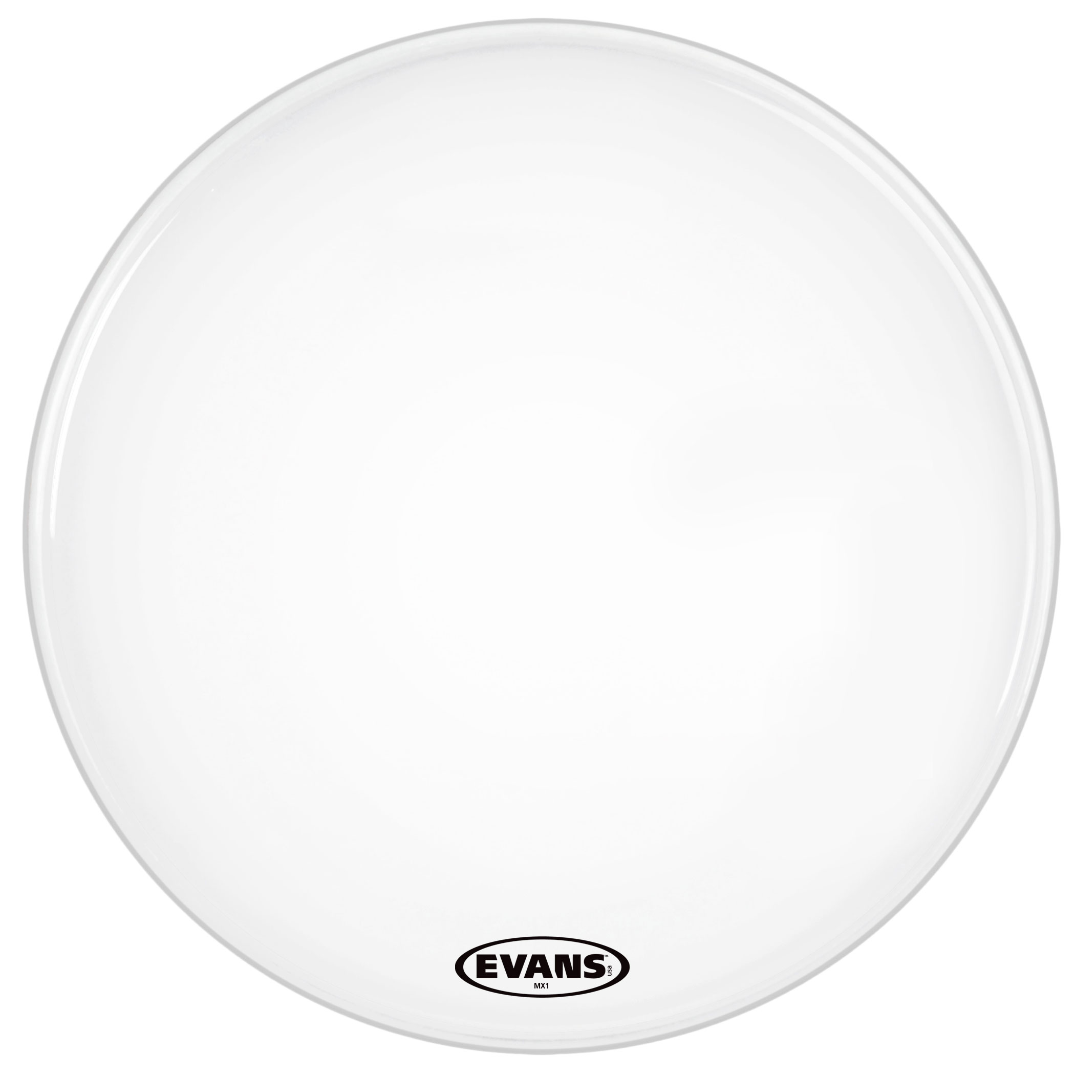 "Evans 26"" MX1 White Marching Bass Head"