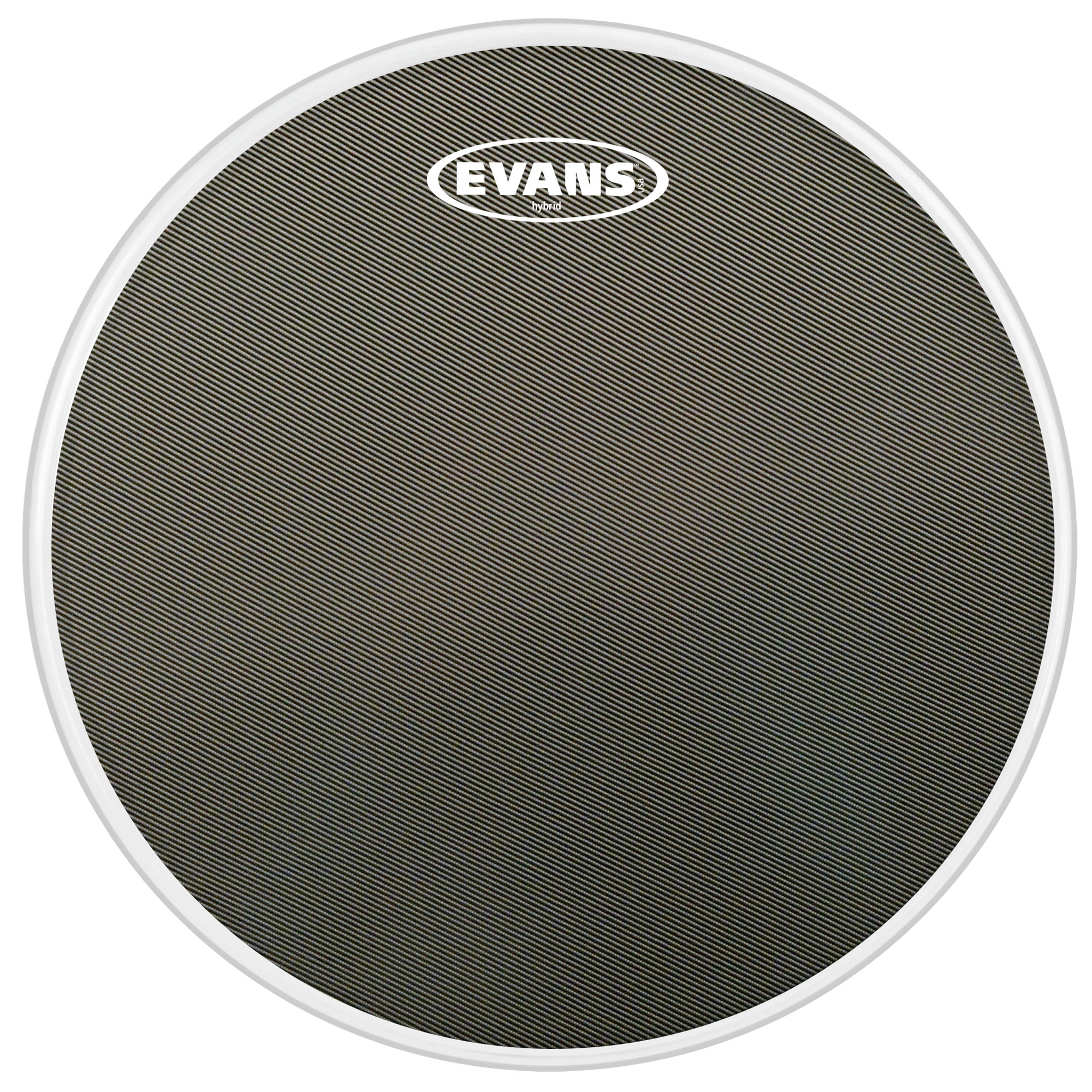 "Evans 14"" Hybrid Grey Marching Snare Top Head"