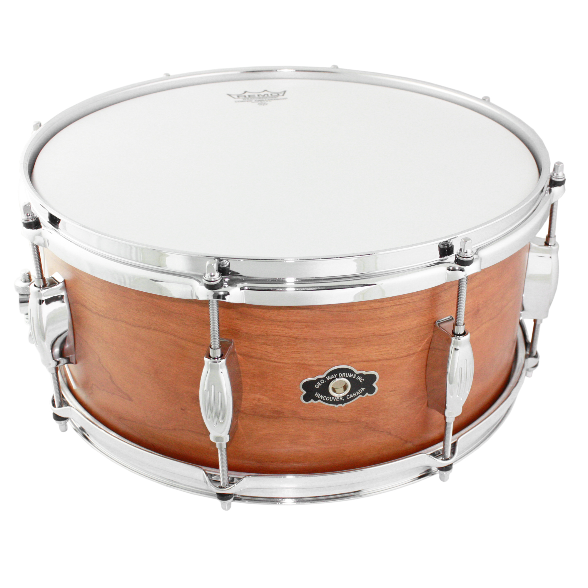 "George Way 6.5"" x 14"" Tradition Cherry Natural Oil Snare Drum"