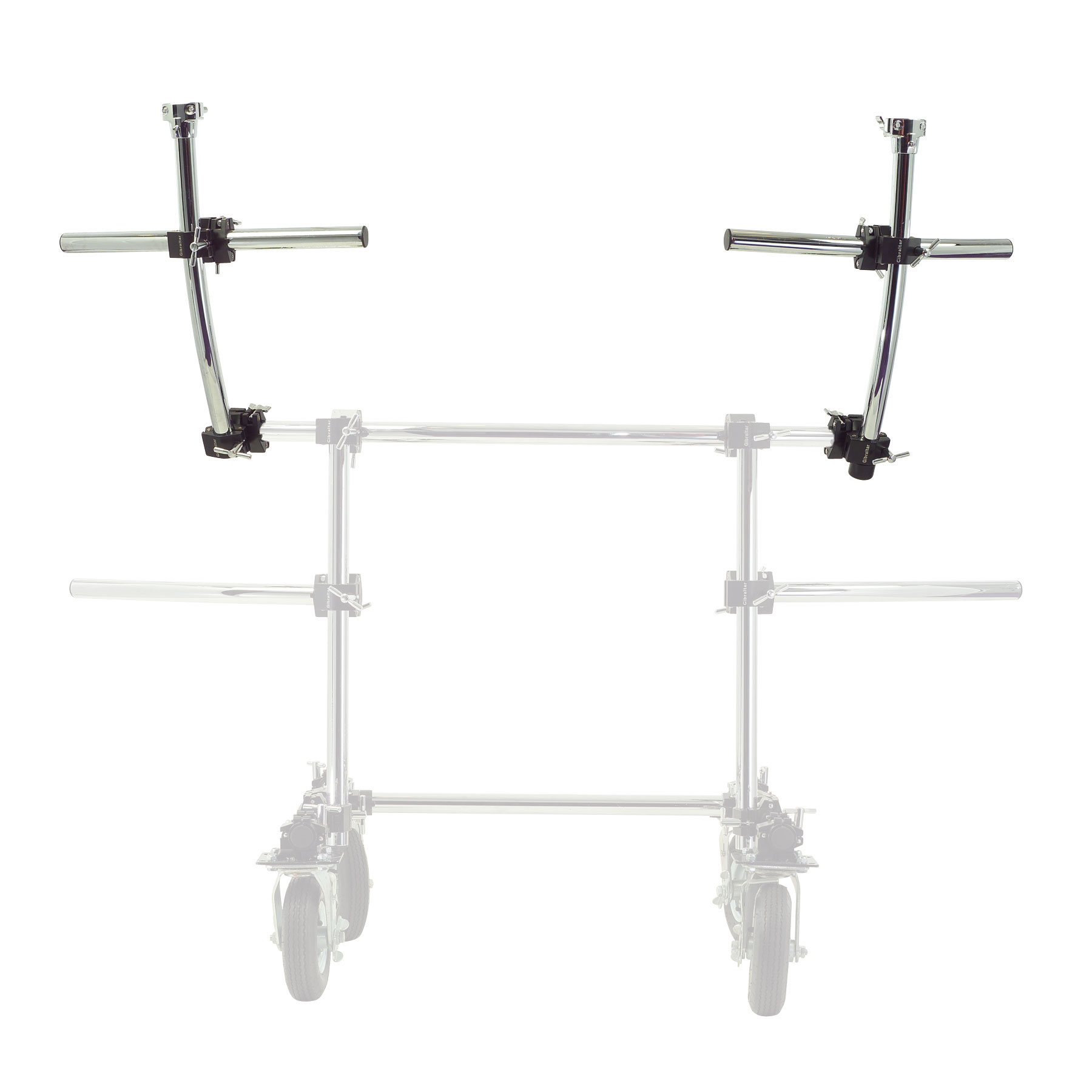 Gibraltar Rolling Frame Station with Casters - Second Tier Rack (GRF2T)