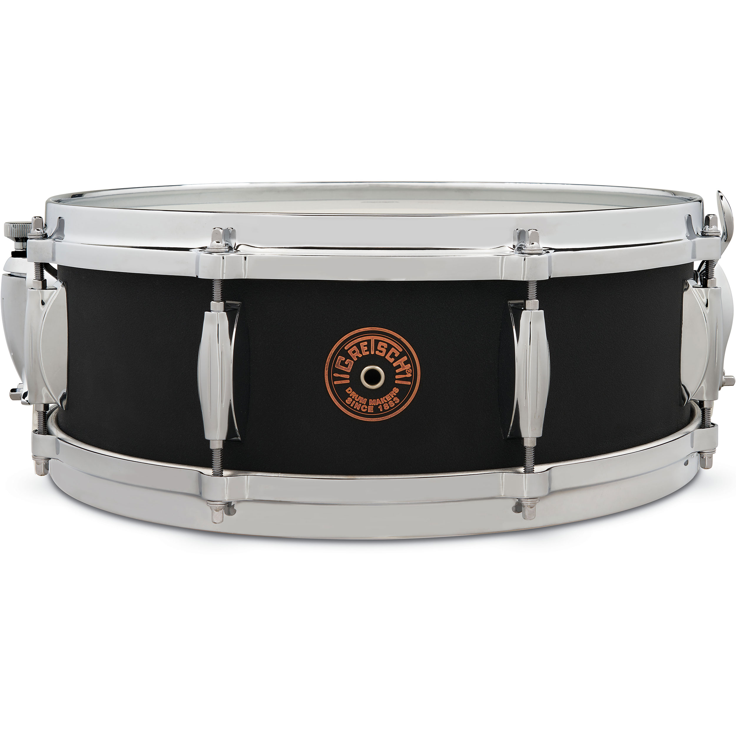 "Gretsch 5"" x 14"" Black Copper Round Badge Exclusive Snare Drum"