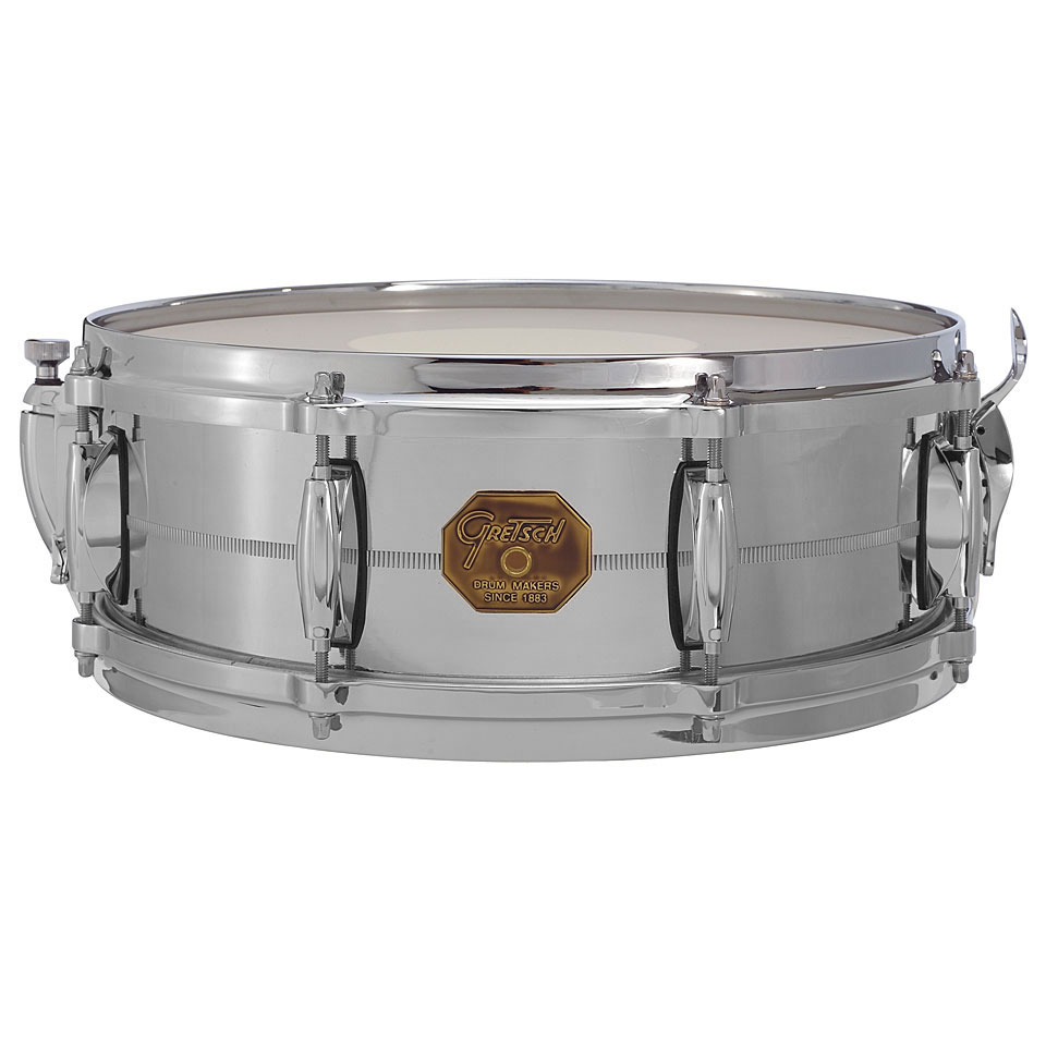 "Gretsch 5"" x 14"" USA Metal Solid Aluminum Snare Drum"