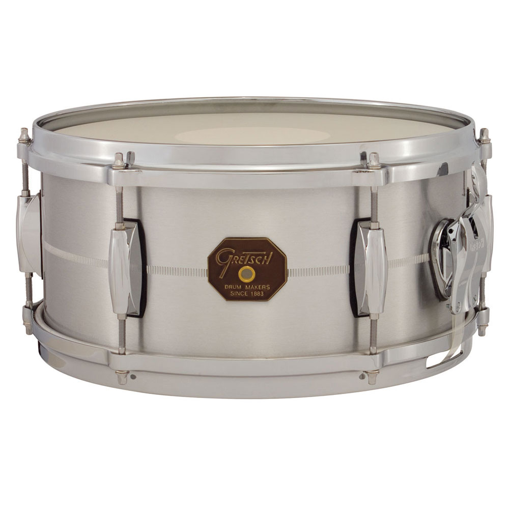 "Gretsch 6"" x 13"" USA Metal Solid Aluminum Snare Drum"