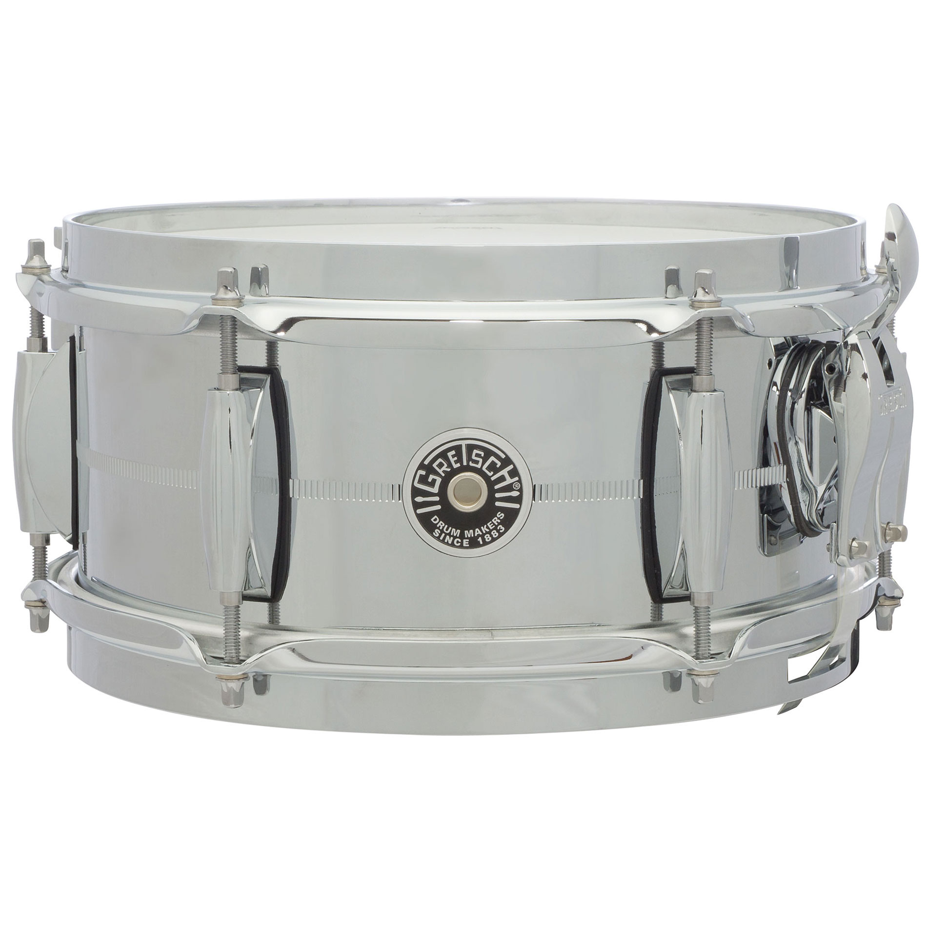 "Gretsch 5"" x 10"" USA Brooklyn Metal Chrome Steel Snare Drum"