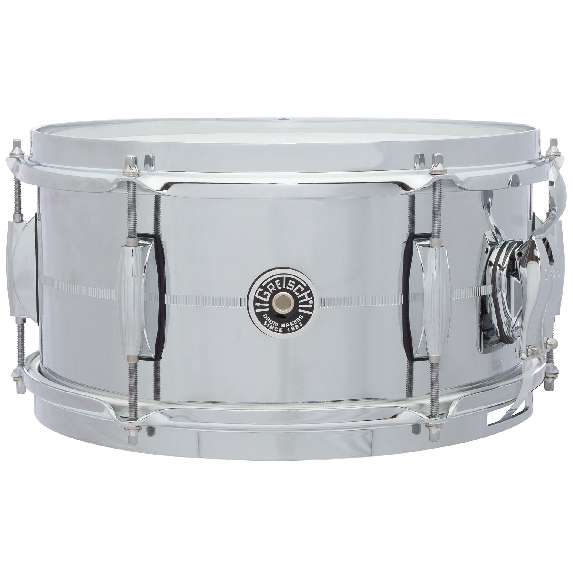 "Gretsch 6"" x 12"" USA Brooklyn Metal Chrome Steel Snare Drum"