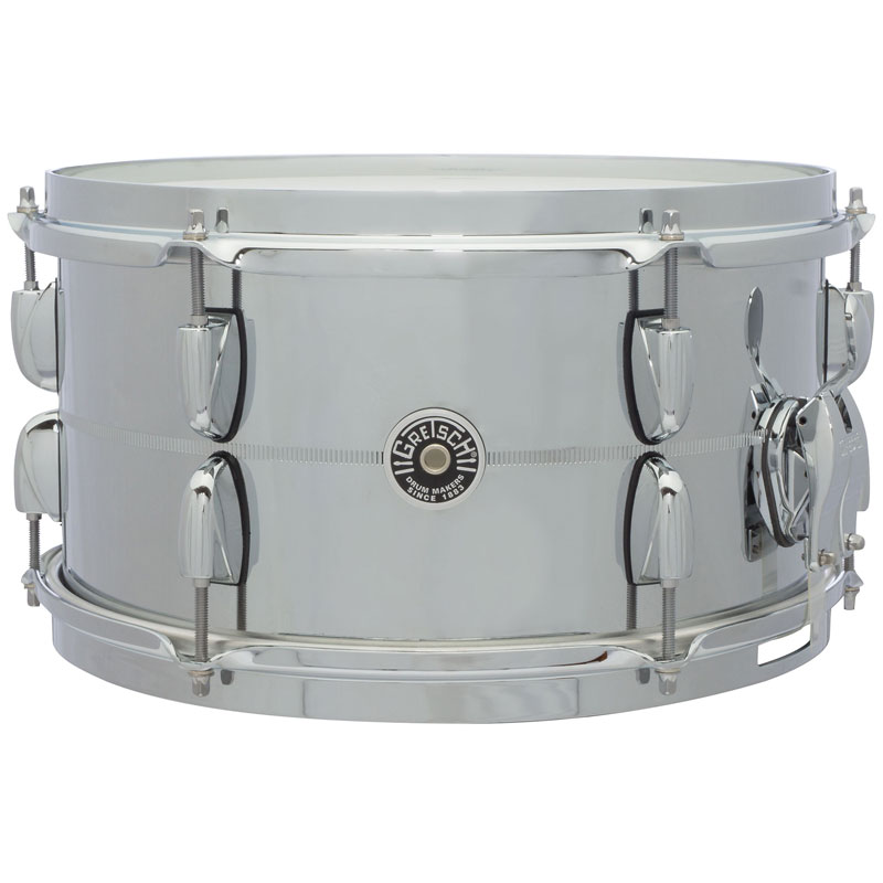"Gretsch 7"" x 13"" USA Brooklyn Metal Chrome Steel Snare Drum"