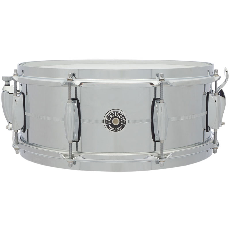 "Gretsch 5"" x 14"" USA Brooklyn Metal Chrome Steel Snare Drum"