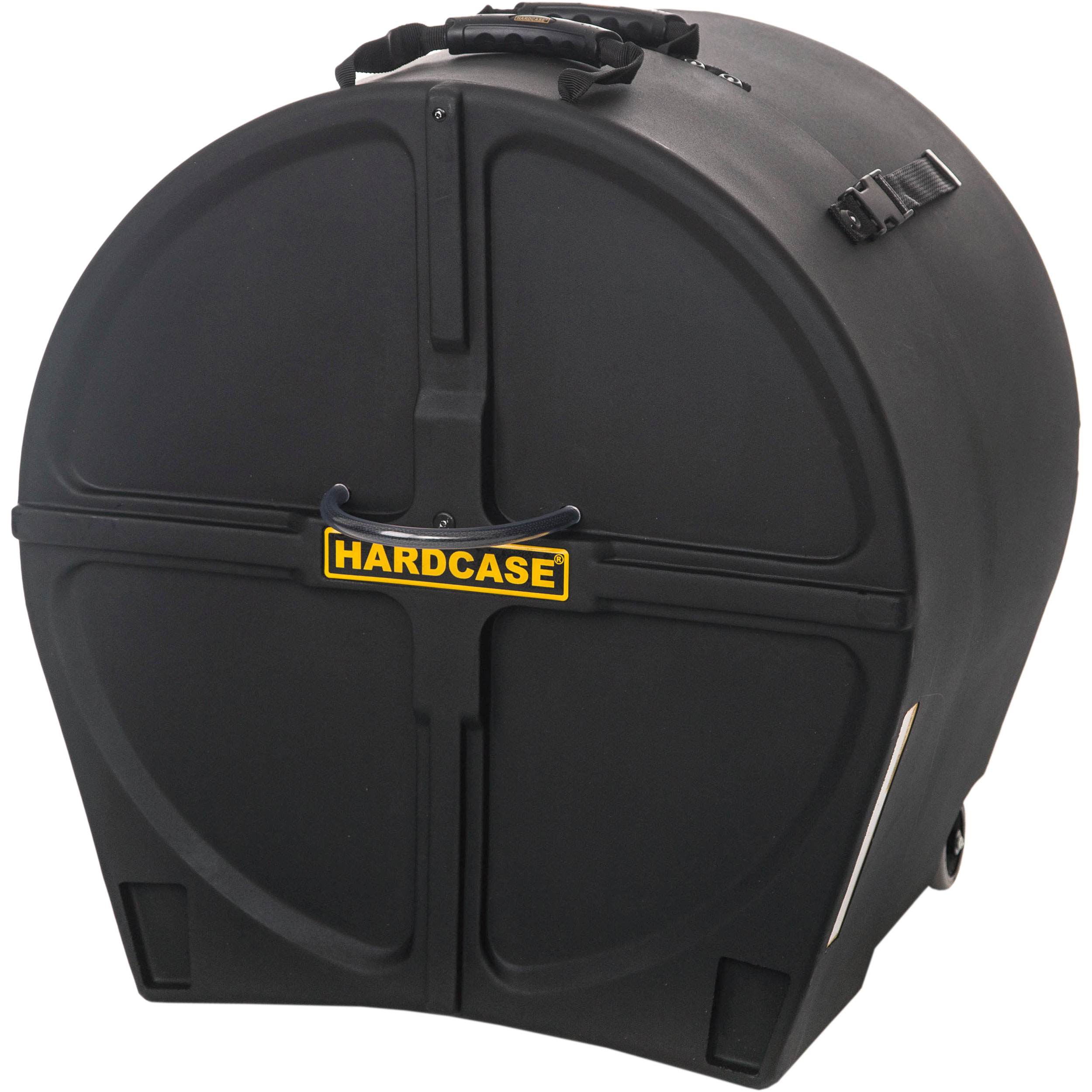 "Hardcase 20"" (Diameter) x 16-to-20"" (Deep) Bass Drum Case with Wheels"