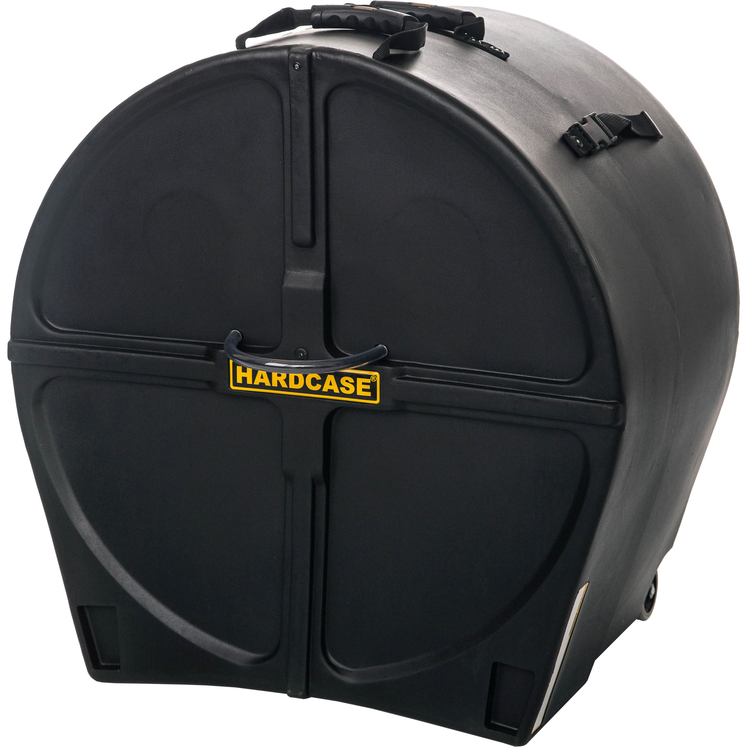 "Hardcase 22"" (Diameter) x 16-to-20"" (Deep) Bass Drum Case with Wheels"