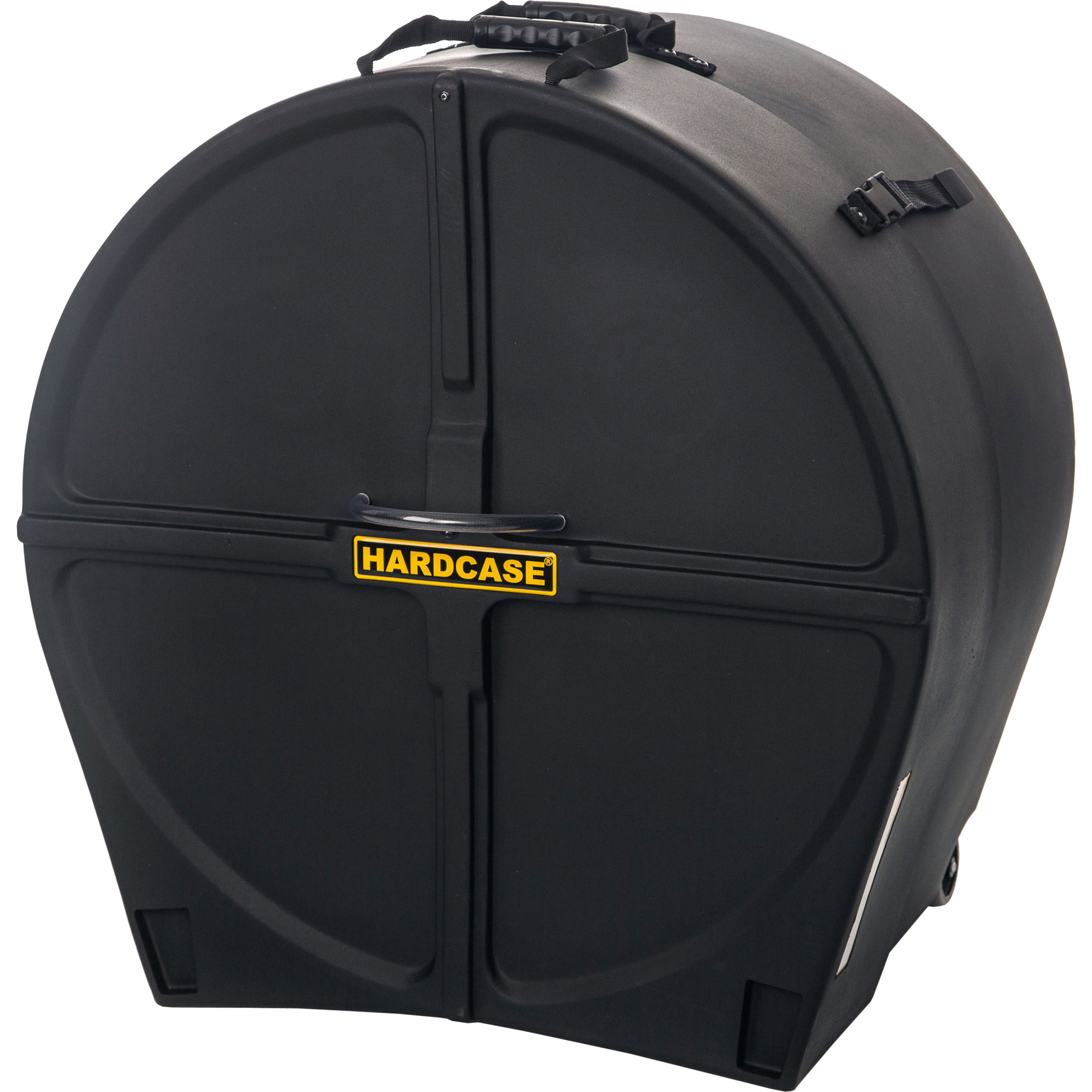 "Hardcase 24"" (Diameter) x 16-to-20"" (Deep) Bass Drum Case with Wheels"