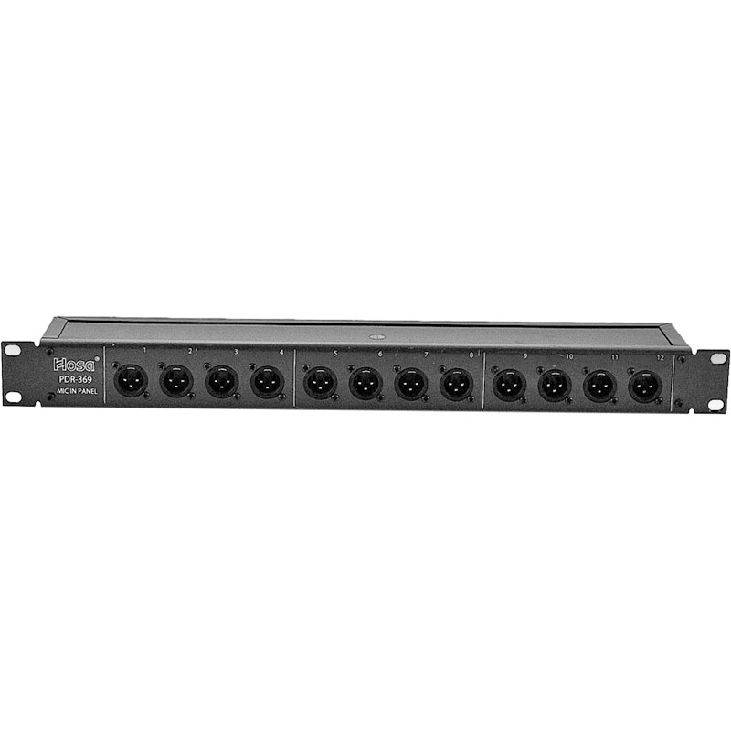 Hosa 12-Channel XLR Male or XLR Female Patchbay with Reversible Inputs