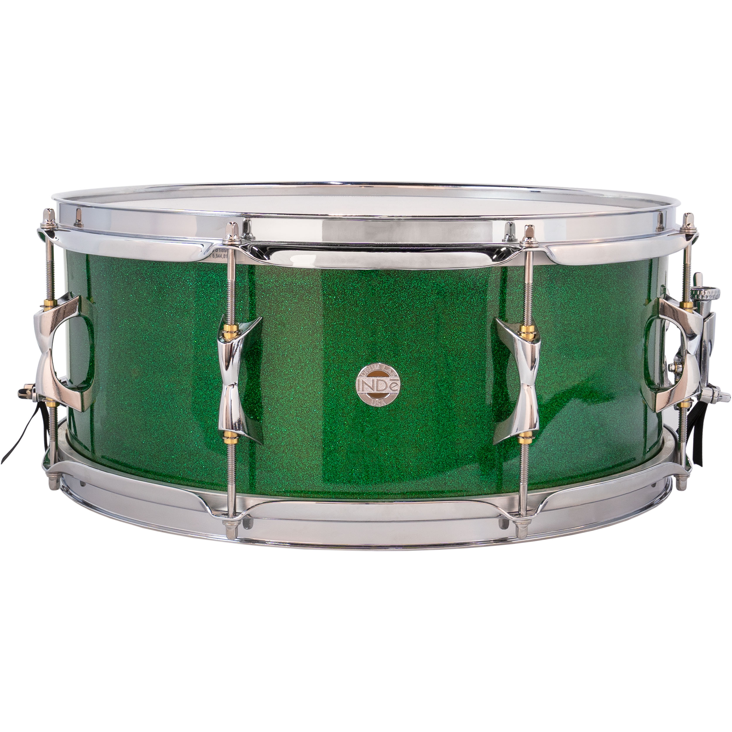 "Inde 6.5"" x 15"" ResoArmor Snare Drum in Green Sparkle (Demo)"