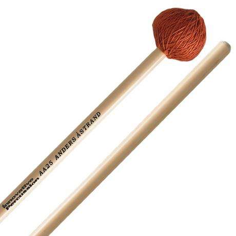 Innovative Percussion AA25 Anders Astrand Medium Vibraphone/Marimba Mallets with Rattan Handles