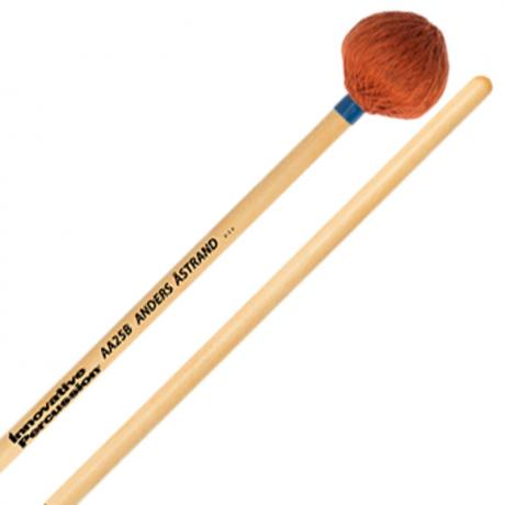 Innovative Percussion AA25B Anders Astrand Medium Vibraphone/Marimba Mallets with Birch Handles