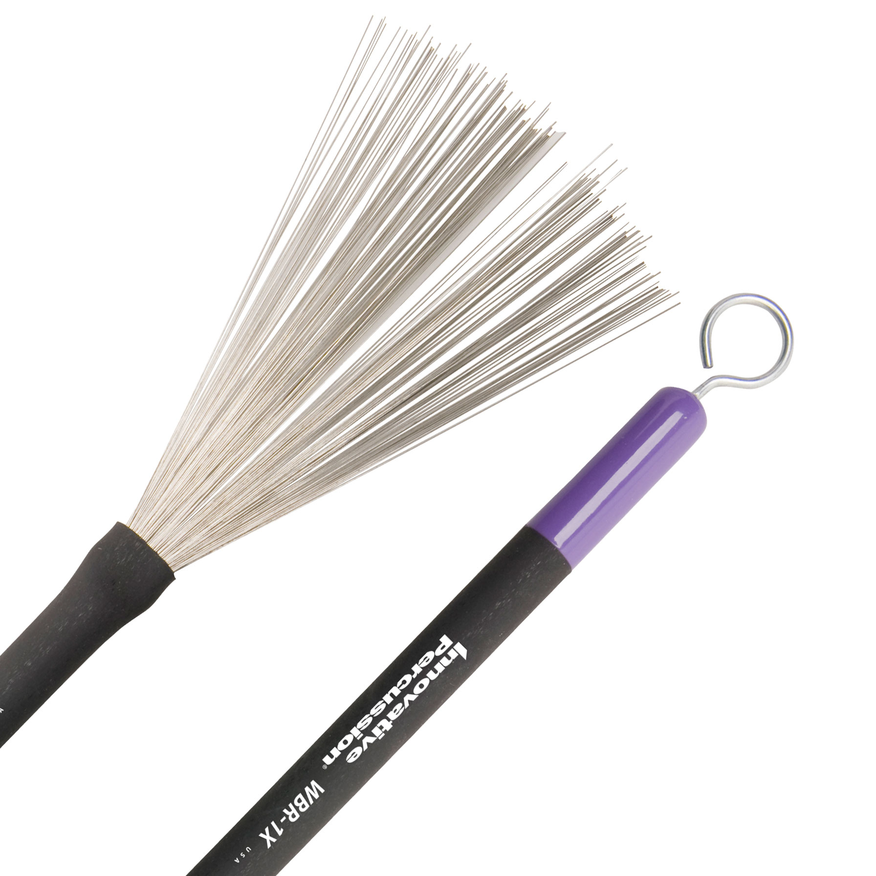 Innovative Percussion Medium Retractable Wire Brushes with Pull Rods