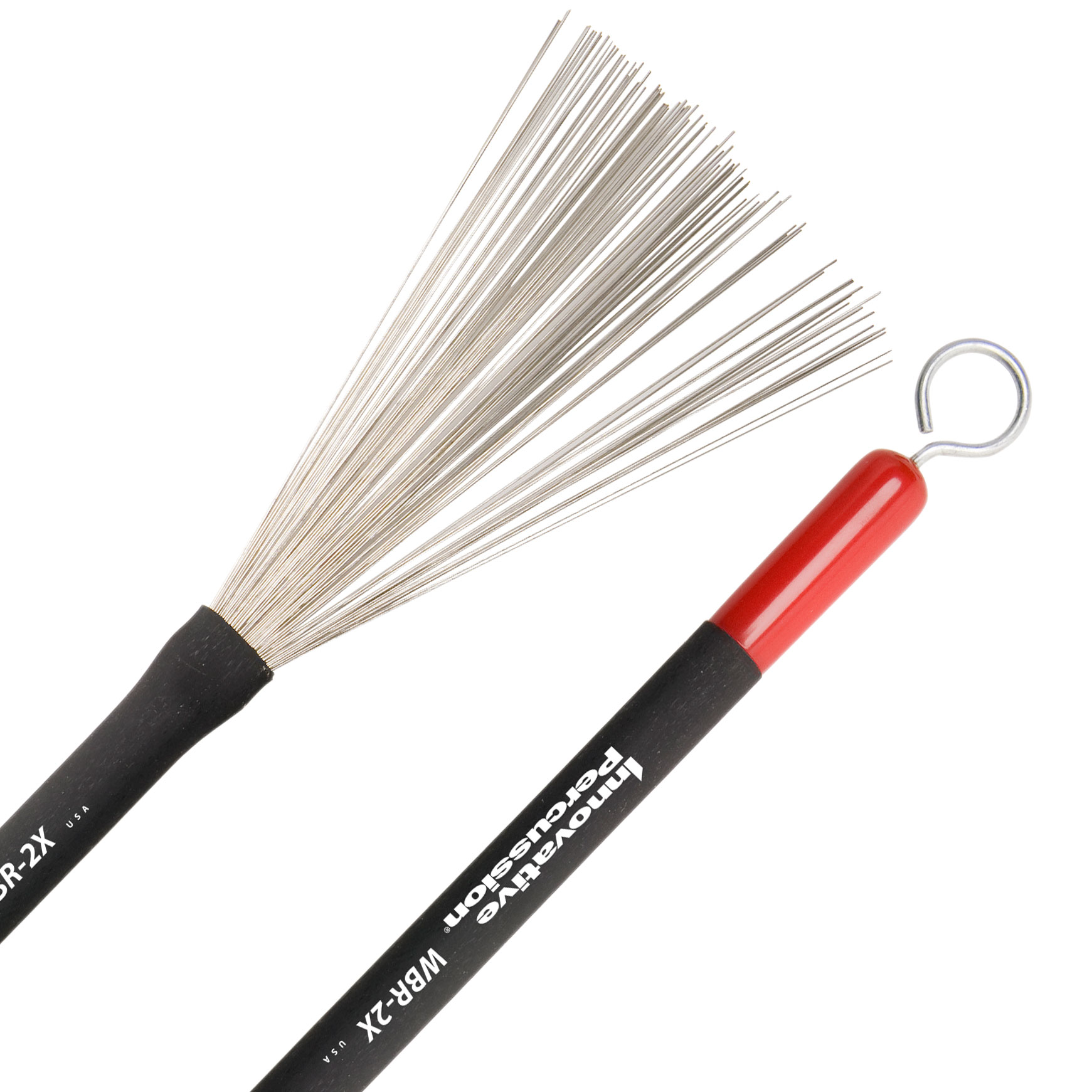 Innovative Percussion Heavy Retractable Wire Brushes with Pull Rods