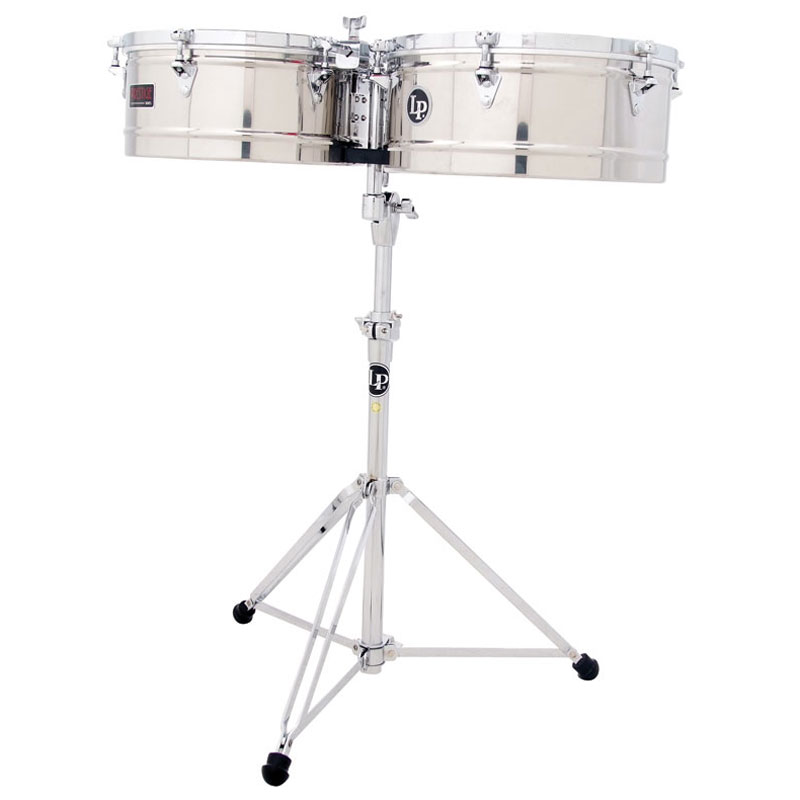 "LP 14/15"" Prestige Stainless Steel Timbales"