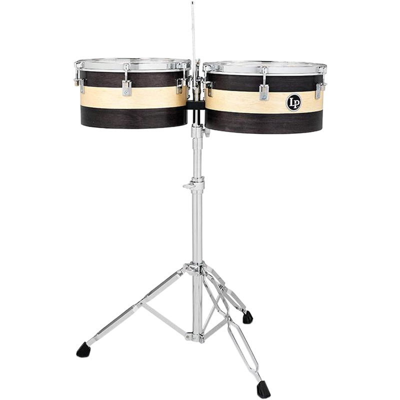 "LP 14/15"" Sheila E. Signature Wooden Timbales with Hydraulic Stand"