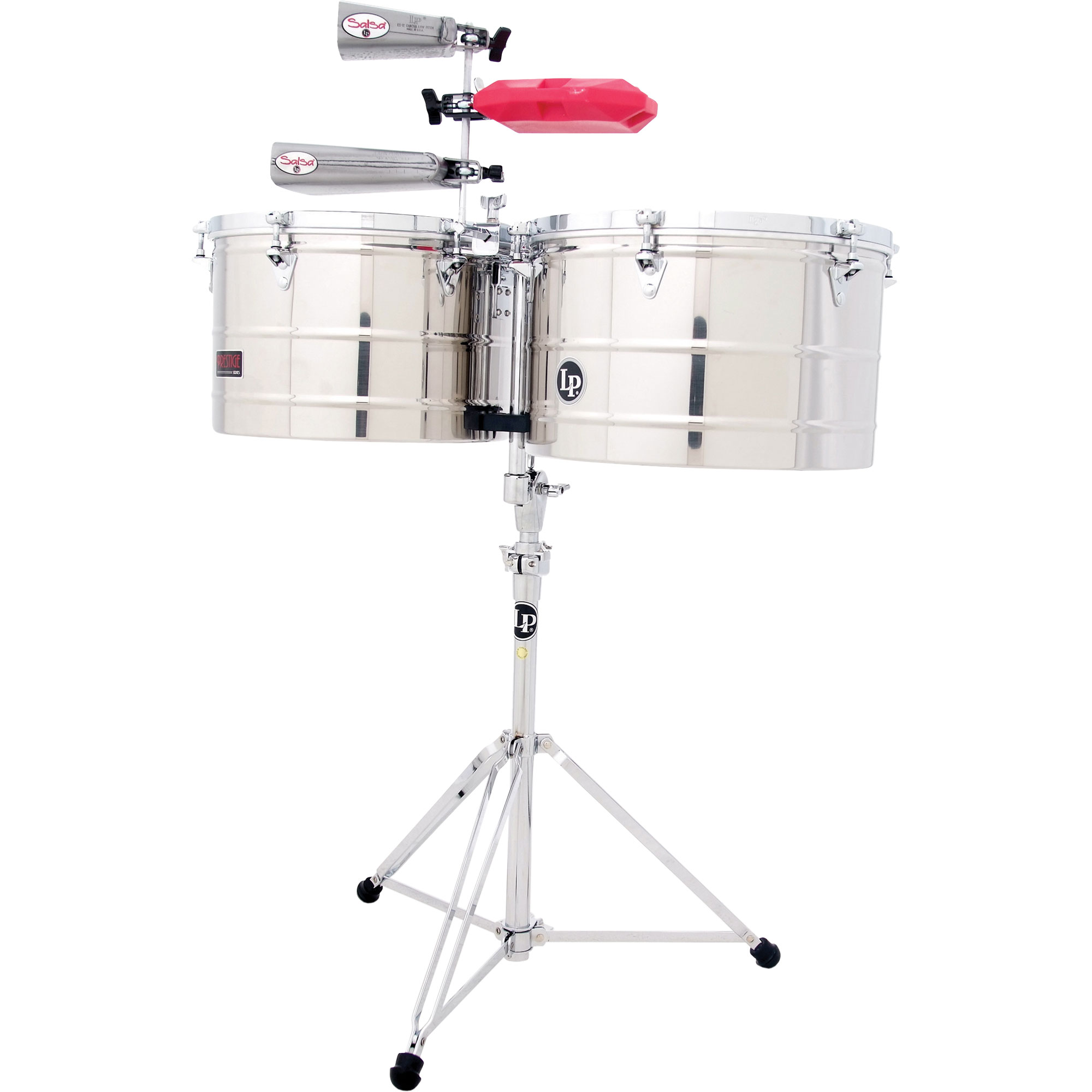 "LP 15/16"" Prestige Stainless Steel Timbales"