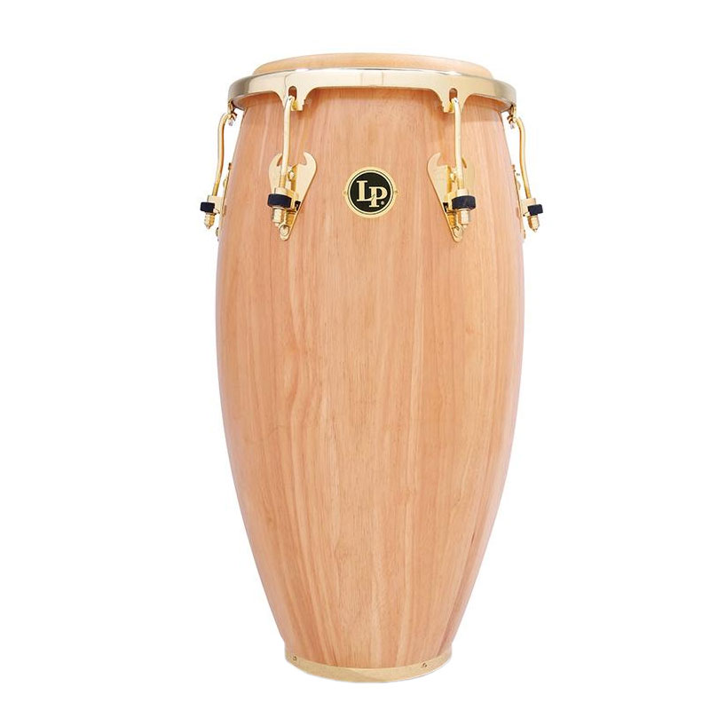 "LP 12.5"" Matador Wood Tumba Conga in Natural with Gold Hardware"
