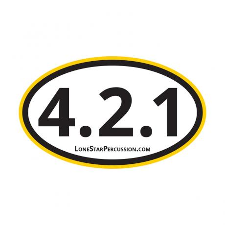 Lone Star Percussion The Drummer's Marathon Sticker (4.2.1 Grid)