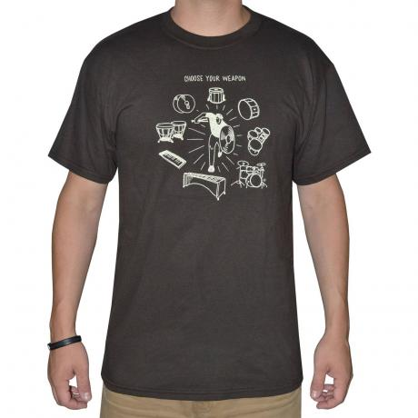 Lone Star Percussion Choose Your Weapon Drummer T-Shirt