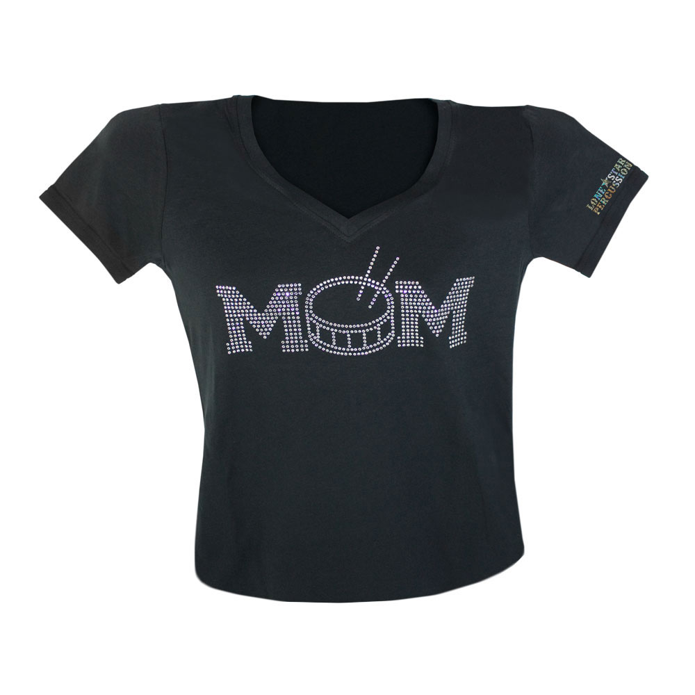 Lone Star Percussion Bedazzled Drum Mom T-Shirt