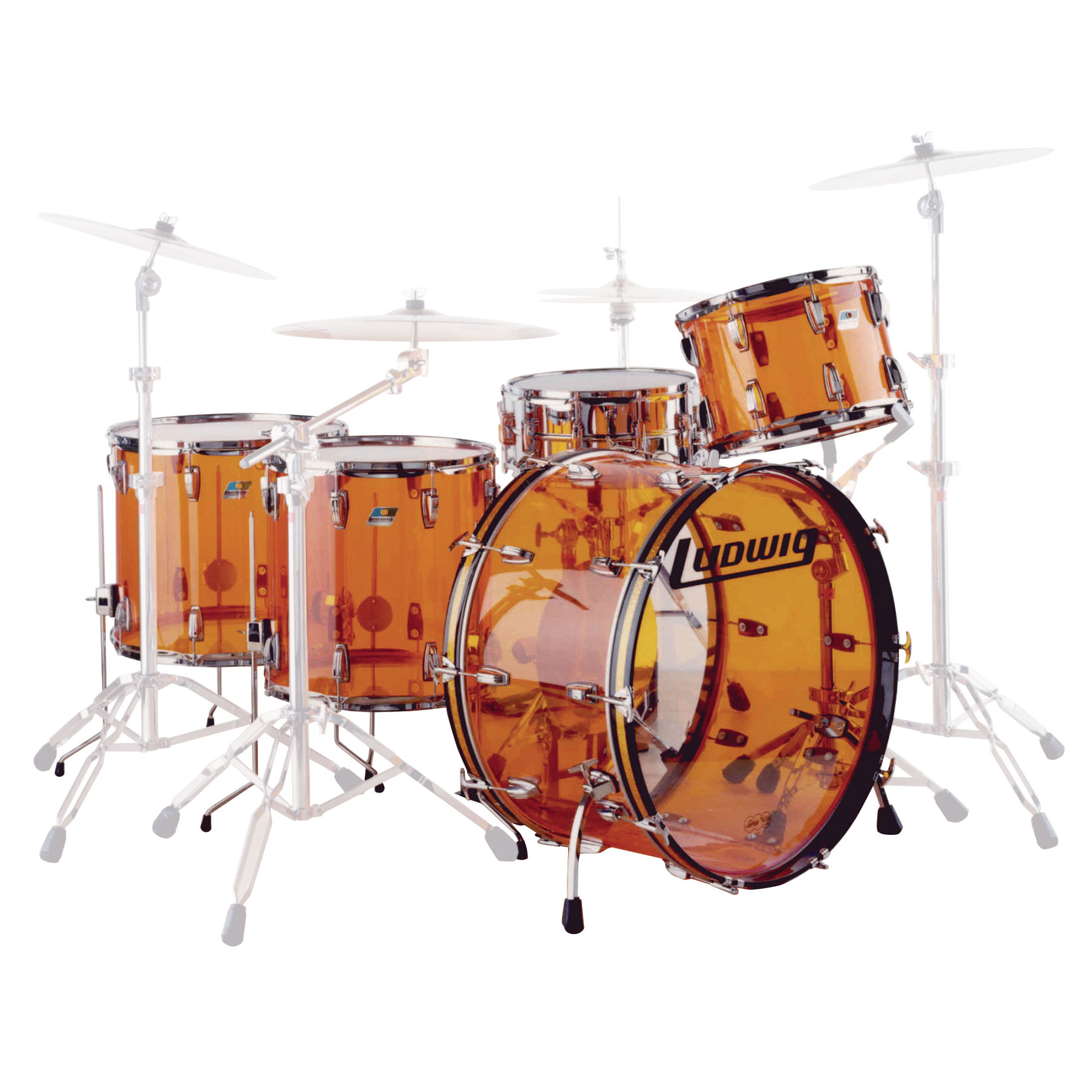 "Ludwig Vistalite Zep Set 5-Piece Drum Set Shell Pack (26"" Bass, 14/16/18"" Toms, 14"" Snare)"