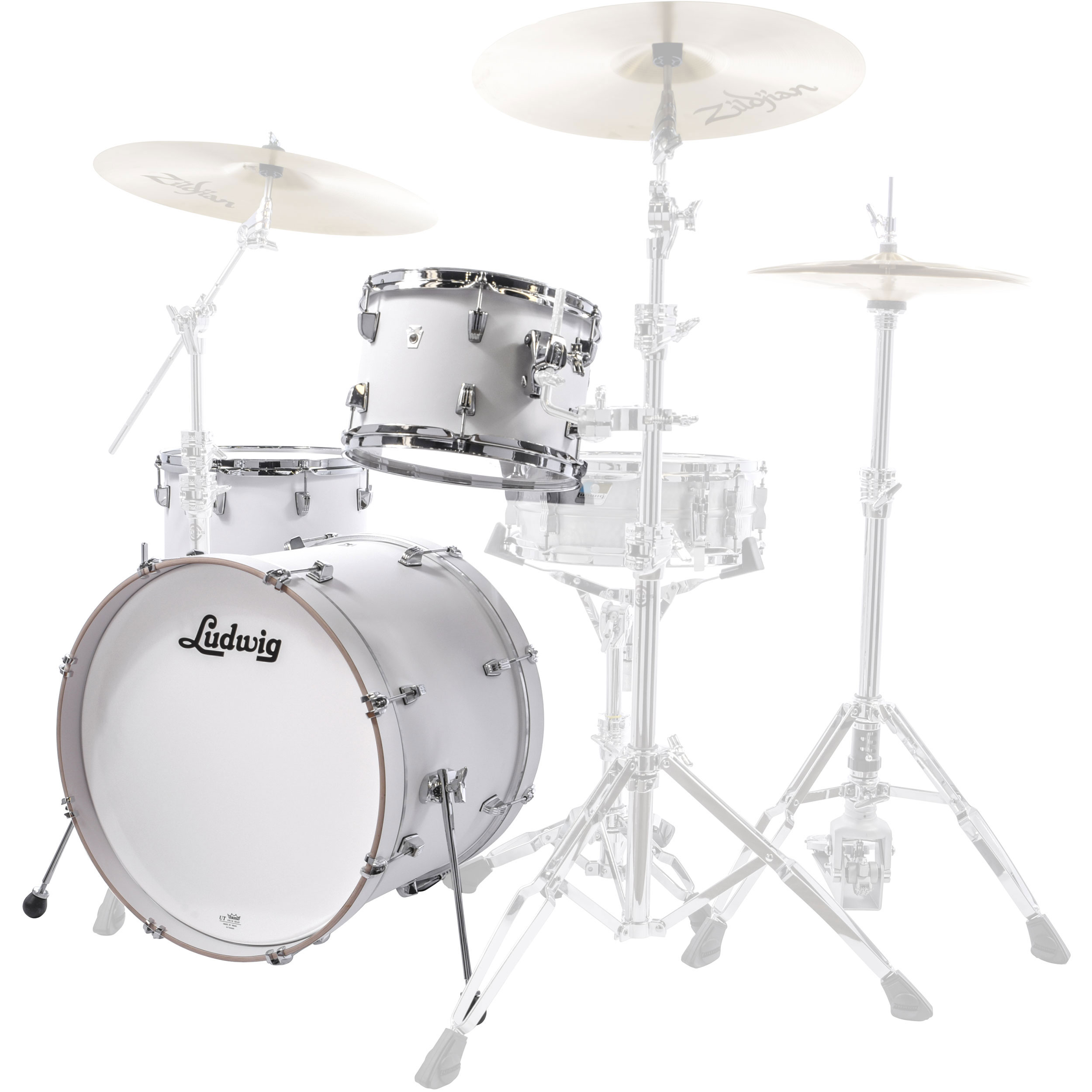 "Ludwig NeuSonic 3-Piece Drum Set Shell Pack (22"" Bass, 12/16"" Toms)"