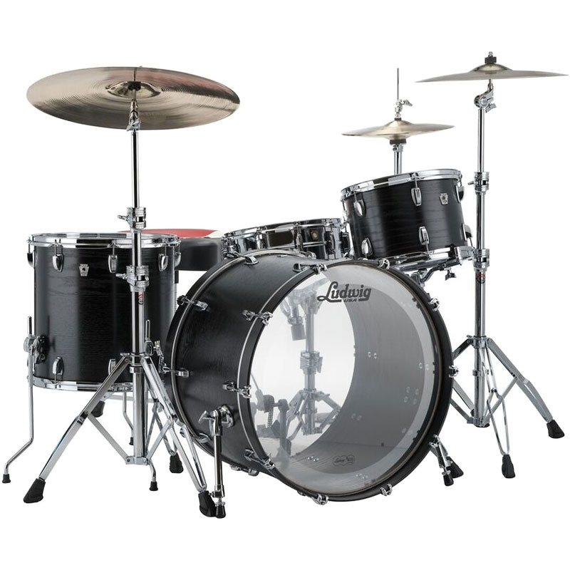 ludwig keystone x 4 piece drum set shell pack 22 bass 10 12 16 toms l7024ax. Black Bedroom Furniture Sets. Home Design Ideas