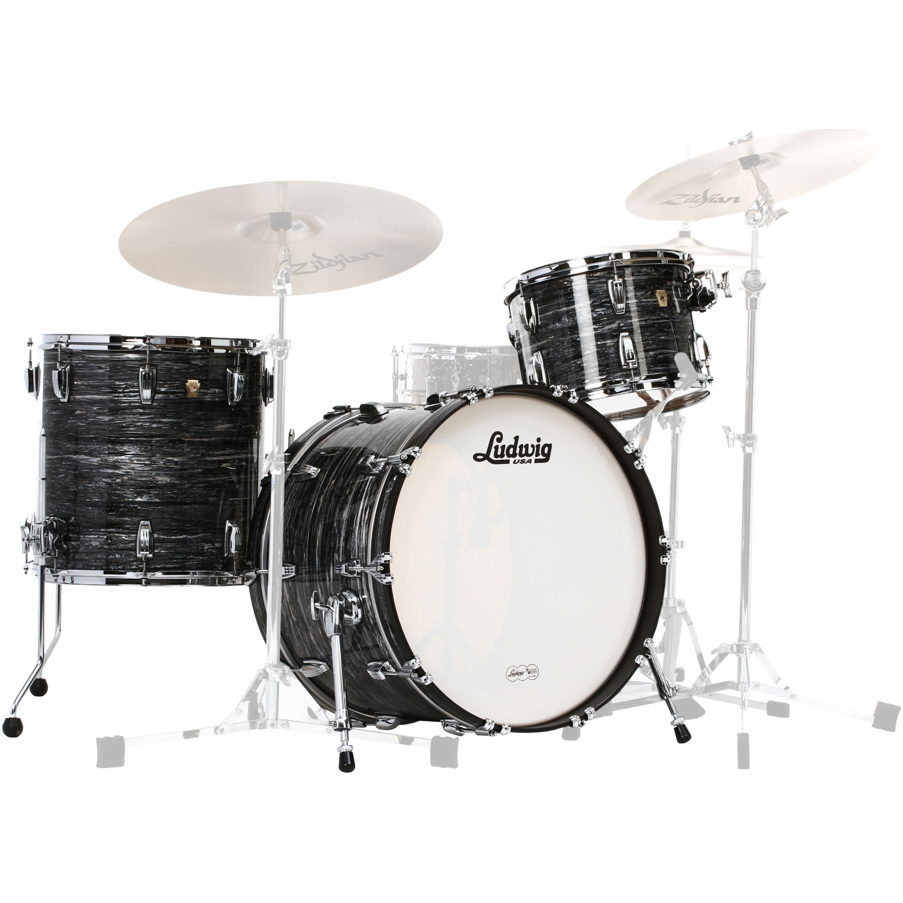 "Ludwig Classic Maple 3-Piece FAB Drum Set Shell Pack (22"" Bass, 13/16"" Toms)"
