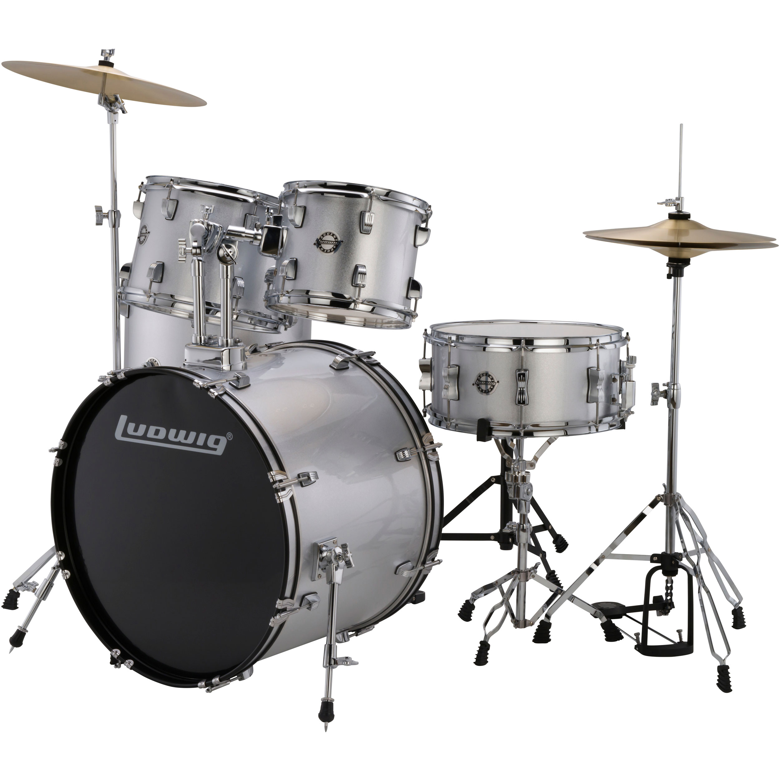 ludwig accent 39 fuse 39 5 piece drum set with hardware cymbals 20 bass 10 12 14 toms 14 snare. Black Bedroom Furniture Sets. Home Design Ideas