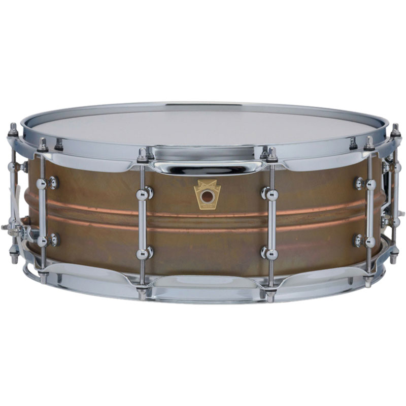 "Ludwig 5"" x 14"" Raw Copper Phonic Snare Drum with Tube Lugs"