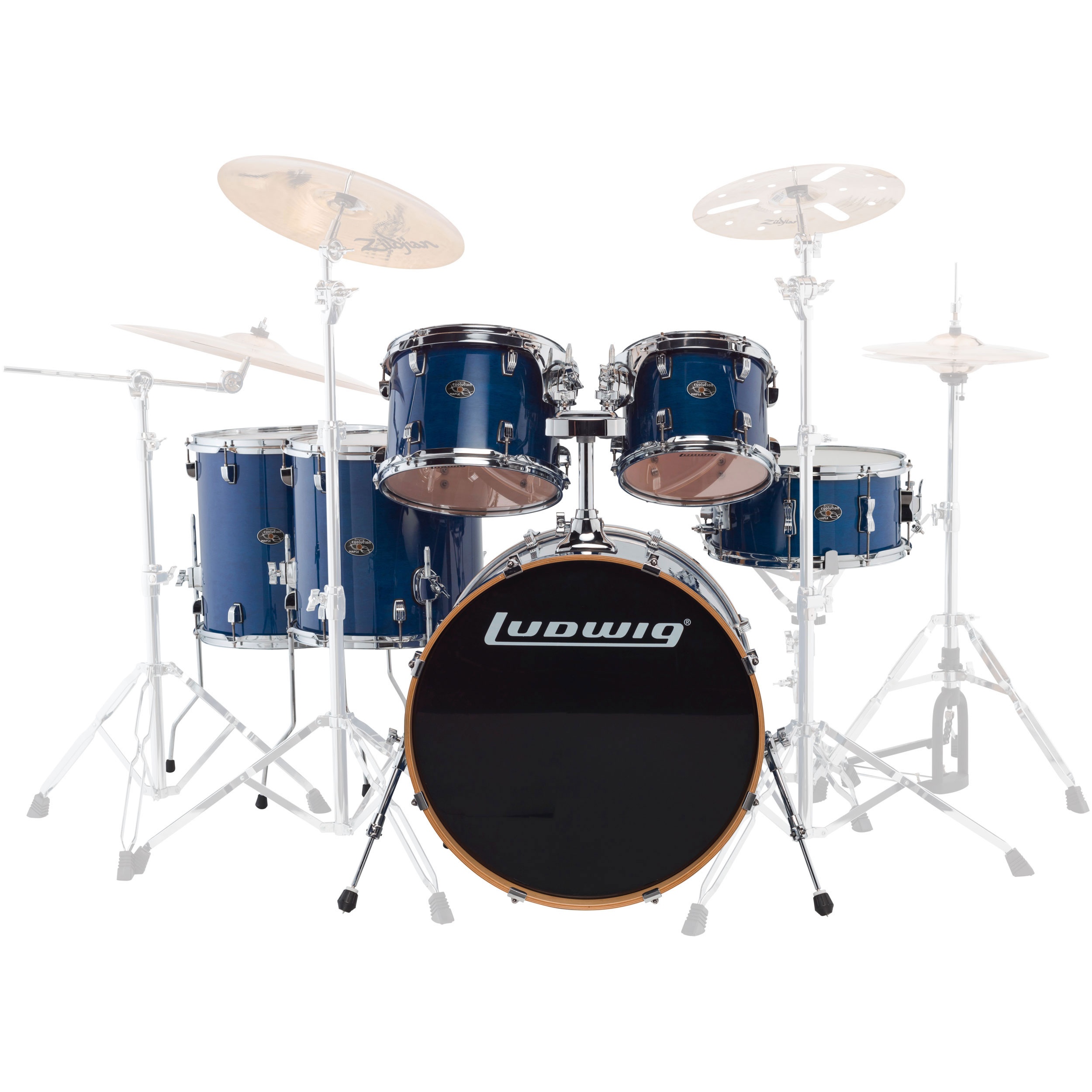 "Ludwig Evolution Maple 6-Piece Drum Set Shell Pack (22"" Bass, 10/12/14/16"" Toms, 14"" Snare)"
