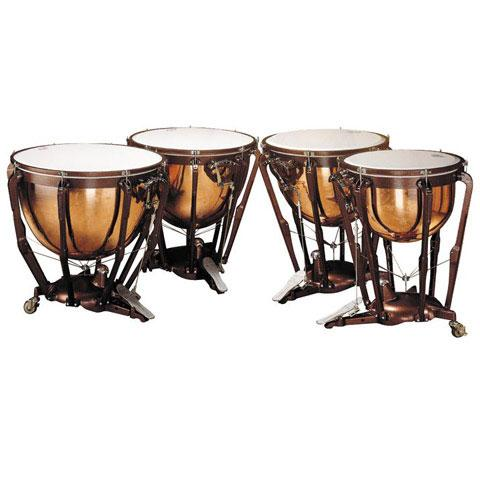 Ludwig Professional Polished Copper Timpani with Tuning Gauges