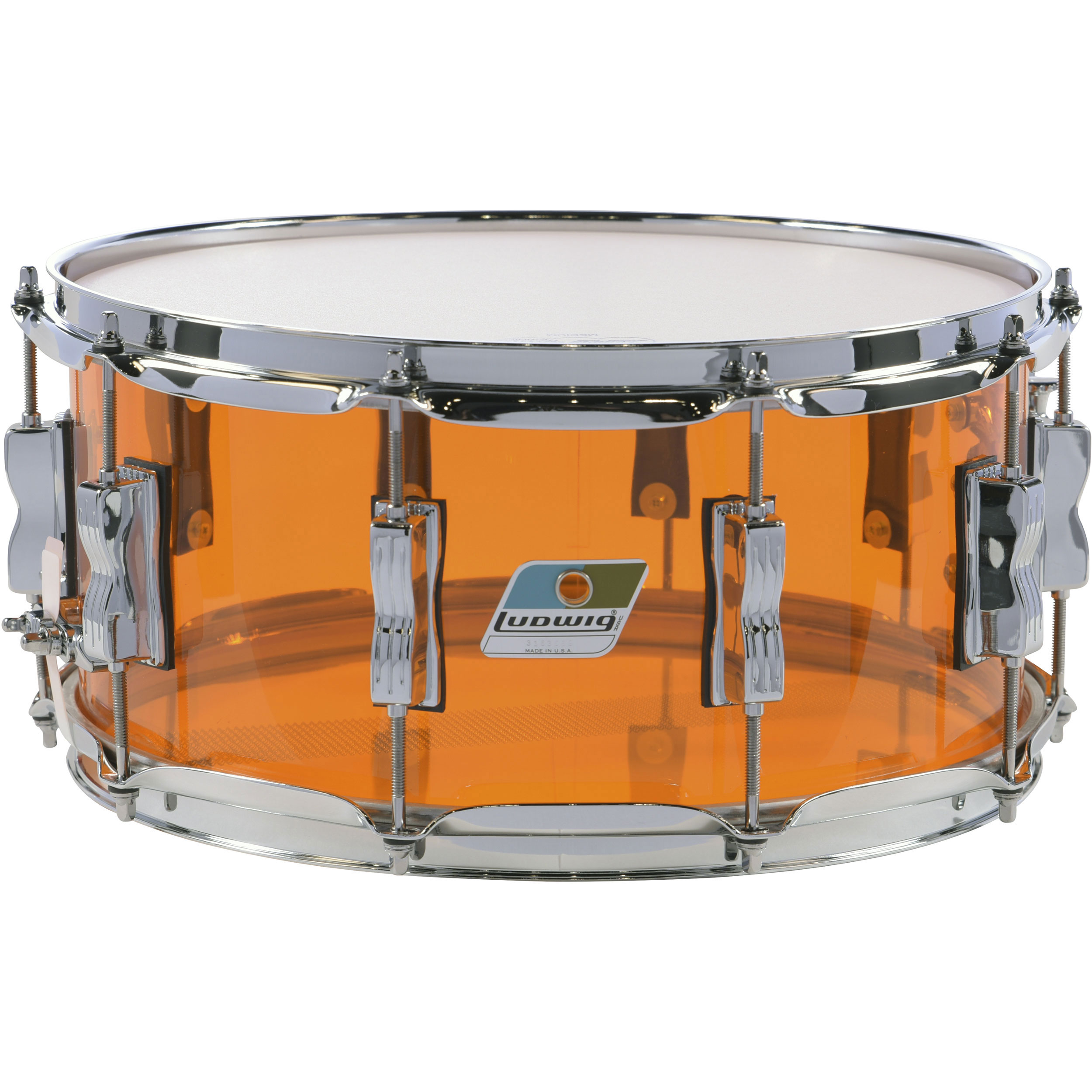 "Ludwig 6.5"" x 14"" Vistalite Snare Drum"
