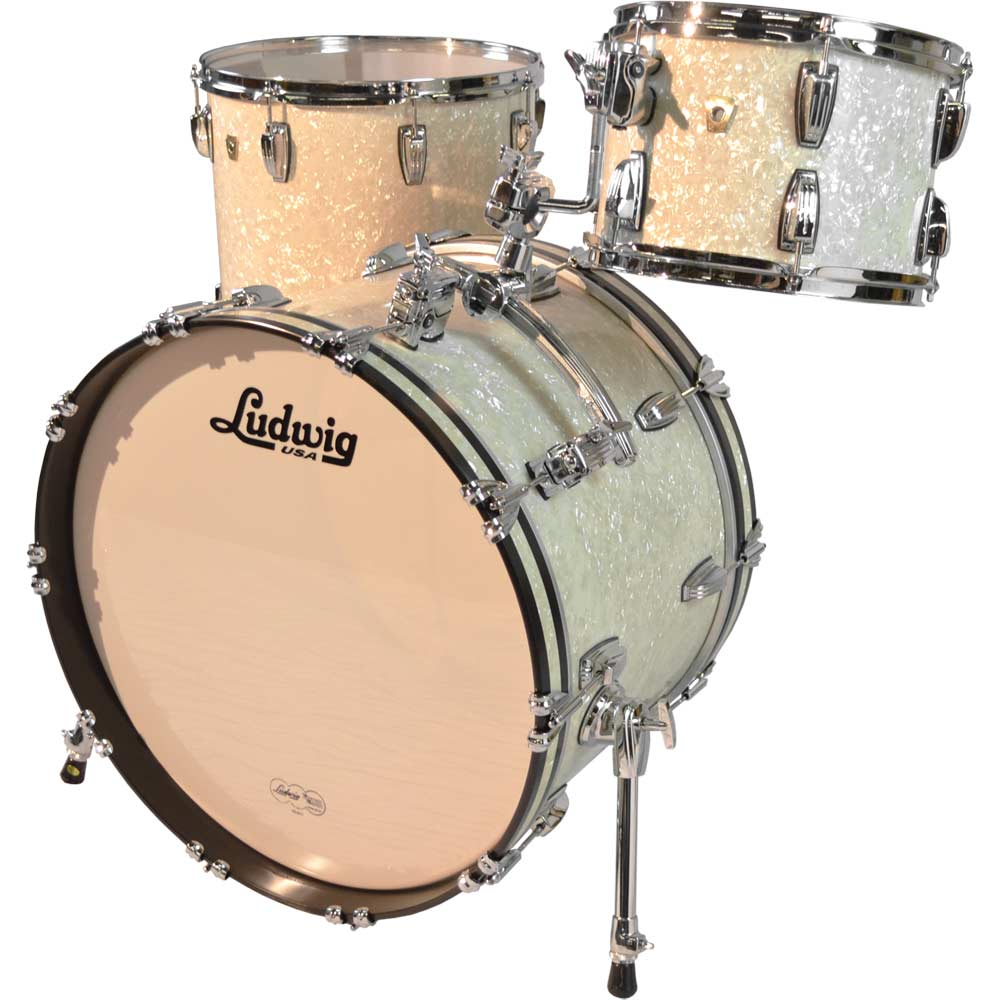ludwig classic maple atlas drum set shell pk 22 bass 12 16 toms in vintage white marine. Black Bedroom Furniture Sets. Home Design Ideas
