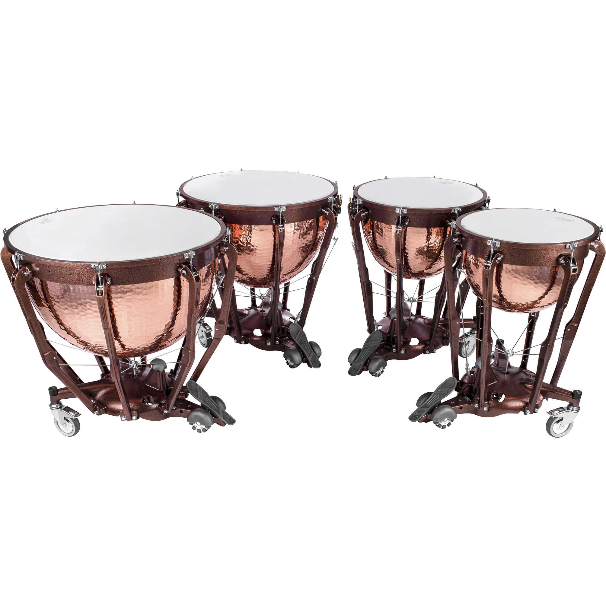 "Ludwig 23/26/29/32"" Professional Series Hammered Copper Timpani Set"