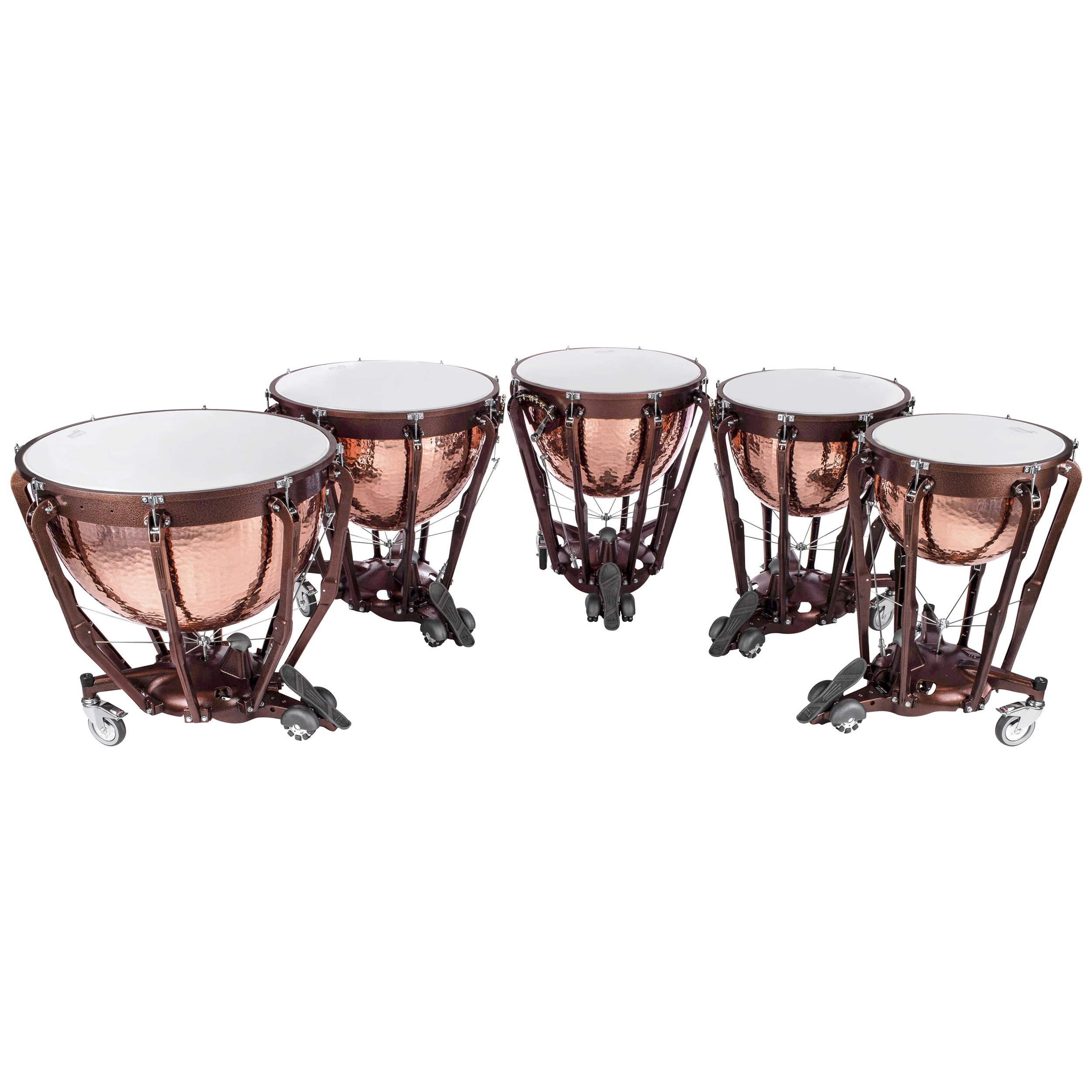 "Ludwig 20/23/26/29/32"" Professional Series Hammered Copper Timpani Set"
