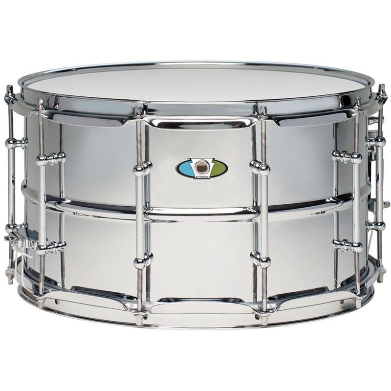 "Ludwig 8"" x 14"" Supralite Steel Snare Drum"