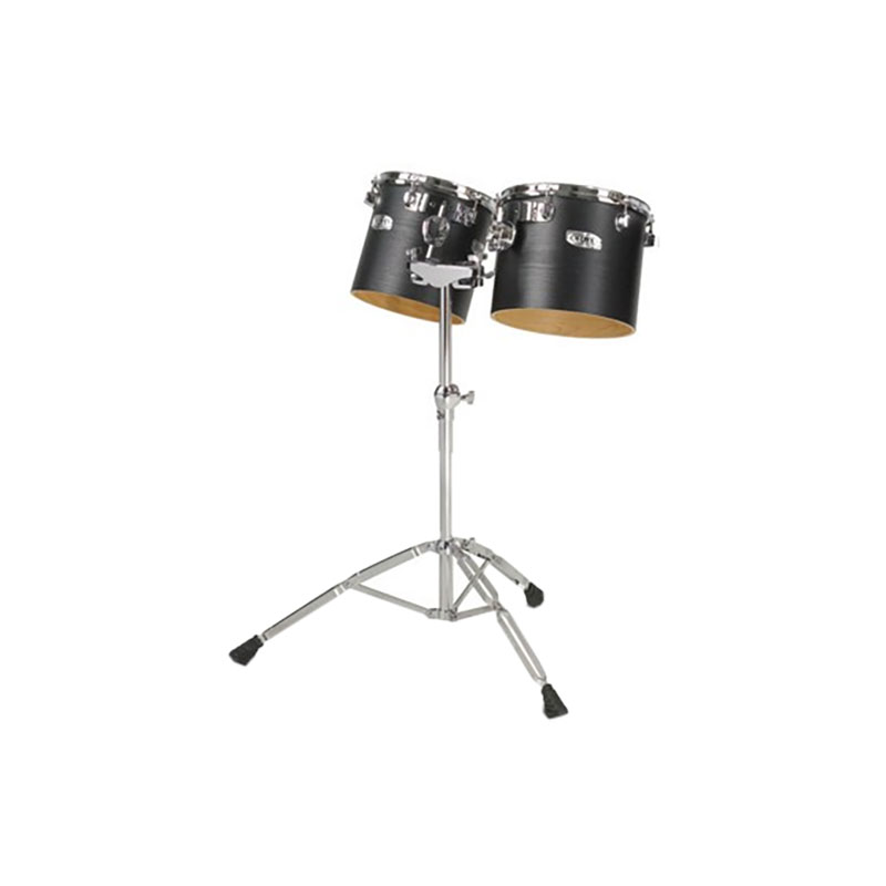 "Majestic 10"" & 12"" Concert Black Single-Headed Birch Concert Toms with Stand"
