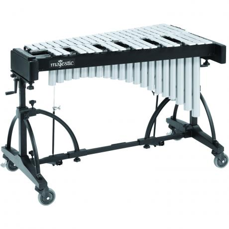 Majestic 3.0 Octave Silver Vibraphone on Adjustable Frame with Motor