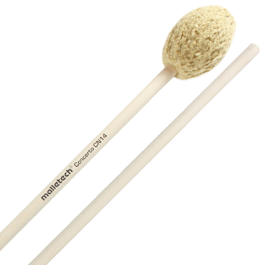 Malletech Concerto Series Medium Hard Marimba Mallets with Birch Handles
