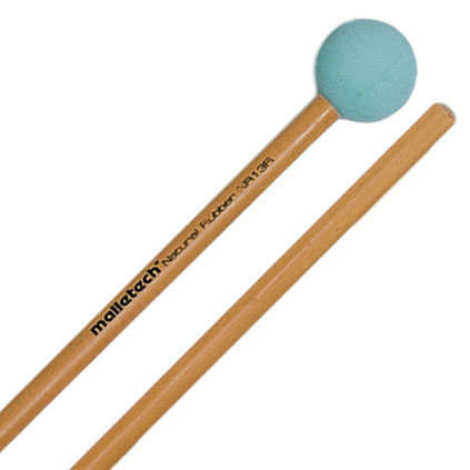 Malletech Natural Rubber Medium Xylophone Mallets with Birch Shafts