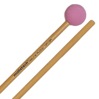 Malletech Natural Rubber Medium Hard Xylophone Mallets with Birch Shafts